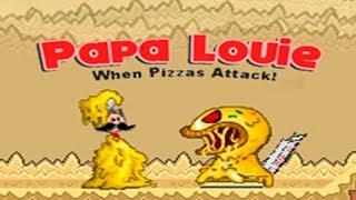 Папа Луи Пицца Атакует прохождение первого этажа Игровое видео Let's Play