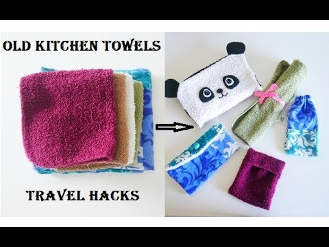 5 DIY's You Must Try Using Old Kitchen Towels Before You Throw Them -Travel Hacks