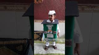 Cute nursery 3yr old boy Fancy dress competion for swach bharat Karthik Asrani
