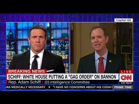 Rep. Schiff on CNN: Bannon's Refusal to Answer Questions