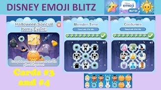 Disney Emoji Blitz Halloween Special Items Event (Cards 3 and 4 Completed)