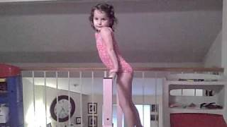 One of Annie LeBlanc's most viewed videos: 4 year old gymnast-sole circle dismount