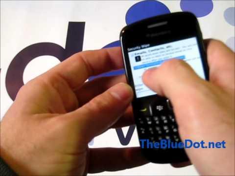 Blackberry Factory Reset
