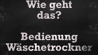Erklärvideo - Wie geht das?   Wäschetrockner im SB Waschsalon Leipzig