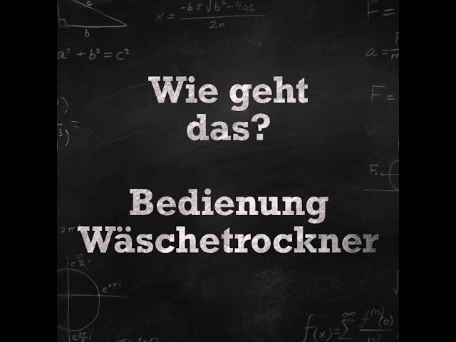 Erklärvideo - Wie geht das? | Wäschetrockner im SB Waschsalon Leipzig