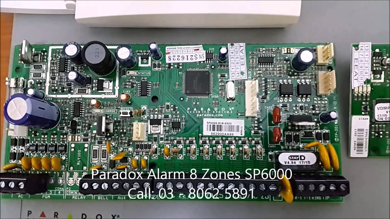 Wiring Diagram For Fire Alarm System 2000 Cadillac Deville Radio Paradox Sp6000 - Youtube