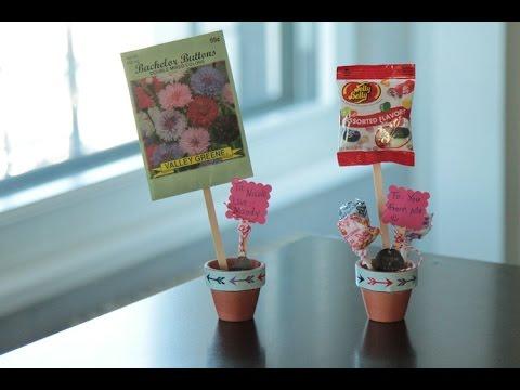 Valentine S Craft For Kids Mini Flower Pot With Treats