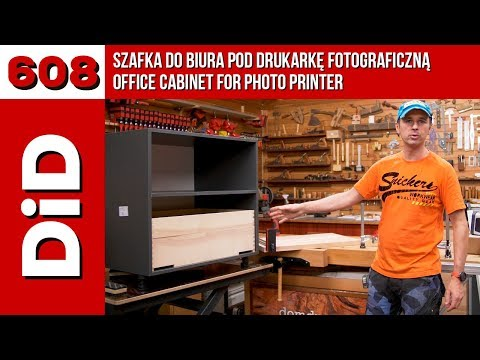 608. Szafka do biura pod drukarkę fotograficzną / Office cabinet for photo printer /