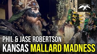 KANSAS Mallard Madness with Jase Robertson's FAVORITE Duck Blind Meal