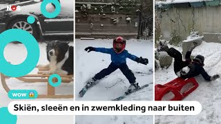 Jullie filmpjes van sneeuwpret en sneeuwkunstwerken