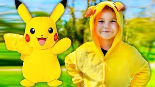 Vlad play with pokemon toys / Stories for kids from Vlad TV Show
