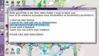 how to fix windows activation error 0xc004f063
