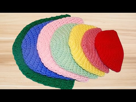 How To Crochet A Double Crochet Beanie Hat All Sizes Crochet