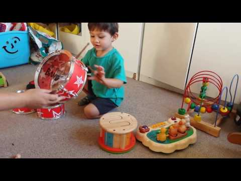 Baby Kids children's playing instruments drums keyboard animal sounds fun and games