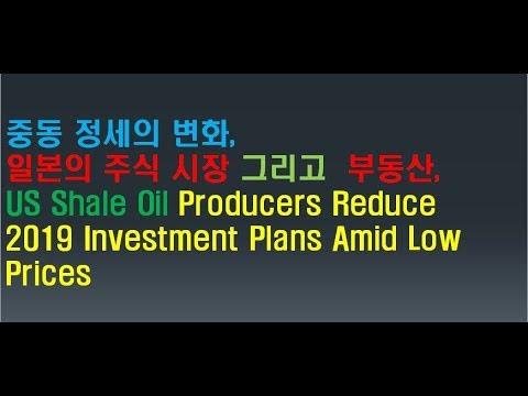 중동 정세의 변화, 일본의 주식 시장, 부동산, US Shale Oil Producers Reduce 2019 Investment Plans Amid Low Prices