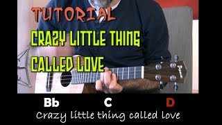CRAZY LITTLE THING CALLED LOVE (Queen) - Tutorial UKELELE