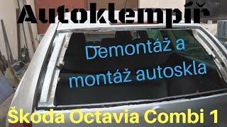 Škoda Octavia Combi 1, Demontáž a montáž zadního skla (Disassembly and assembly car glass)
