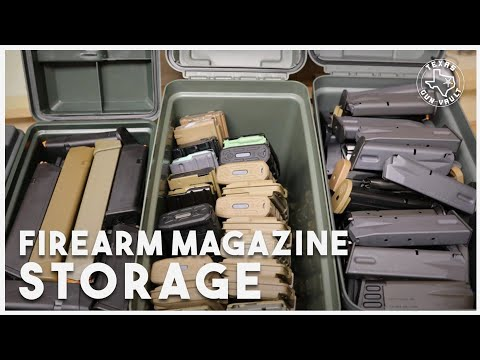 Storing and Organizing Firearms Magazines