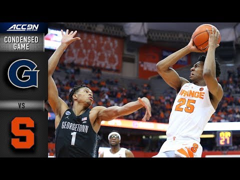 Georgetown vs. Syracuse Condensed Game | 2018-19 ACC Basketball