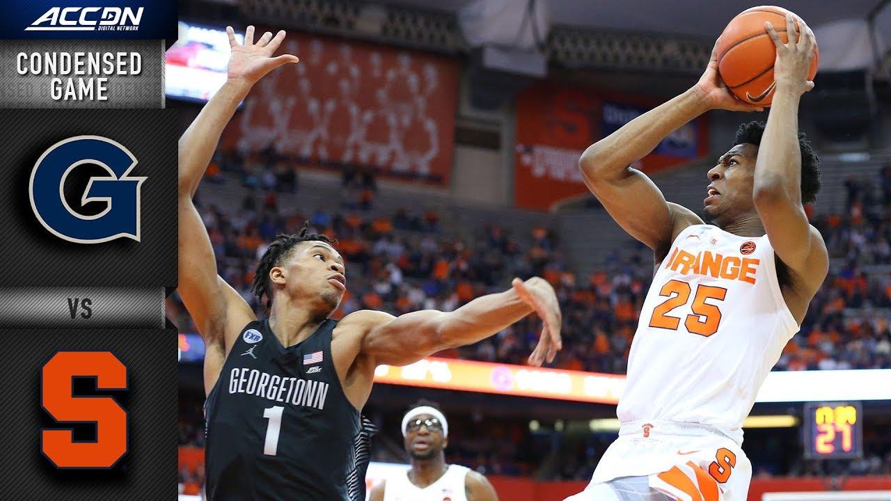 Georgetown Vs Syracuse Condensed Game 2018 19 Acc Basketball