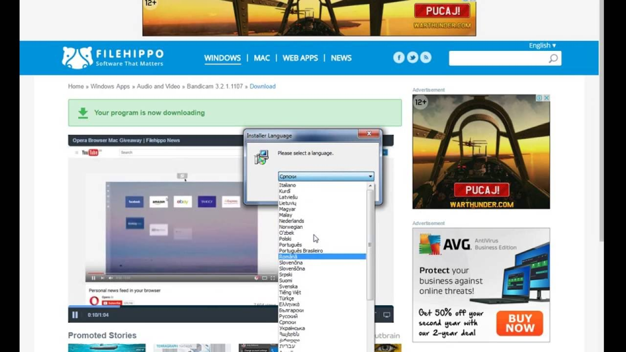 telecharger bandicam windows xp