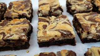 Peanut Butter Cream Cheese Swirl Brownies