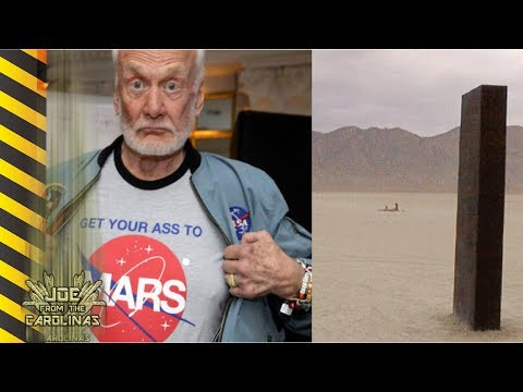 """NASA's Buzz Aldrin: Mystery Monolith On Moon Of Mars """"Who Put That There?"""""""