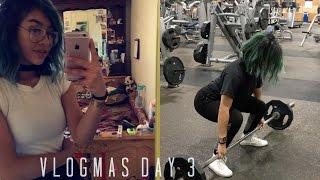 CHATTY GRWM, ASMR AF, MIDNIGHT LEG WORKOUT | vlogmas day 3