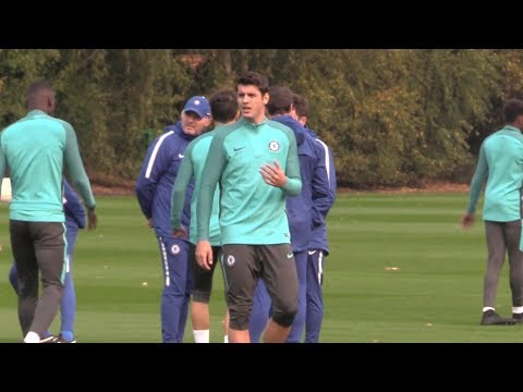Chelsea Training Ahead Of Champions League Clash With Roma