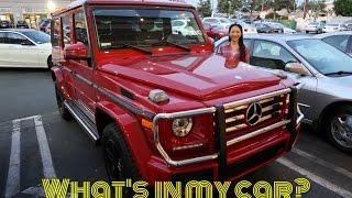 ❤️ Elaine Hau - 什麼在我的新汽車 Mercedes Benz G550 ?! What