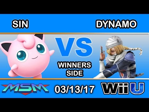 MSM 89 - DyS | Sin (Jigglypuff) Vs. 2S | Dynamo (Sheik) Winners Side - Smash Wii U
