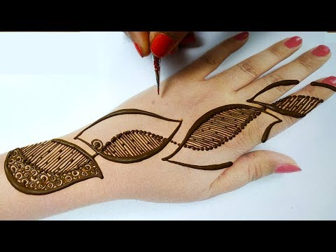आसान अरेबिक मेहँदी डिज़ाइन लगाना सीखे - Easy stylish mehndi design for hands -shaded Mehndi Backhand