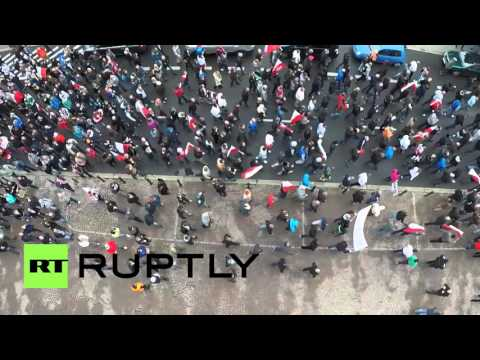 Poland: Drone captures thousands-strong anti-immigration rally in Katowice