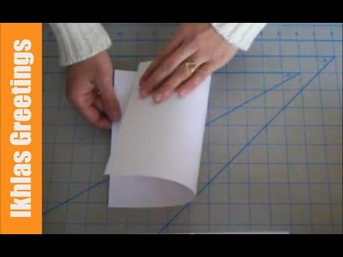 How to Make a Blank Greeting Card Surface | Siti Nuriati Husin