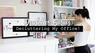 Decluttering & Organizing My Office! Stickers, washi, stationary & more! || DECLUTTER SERIES