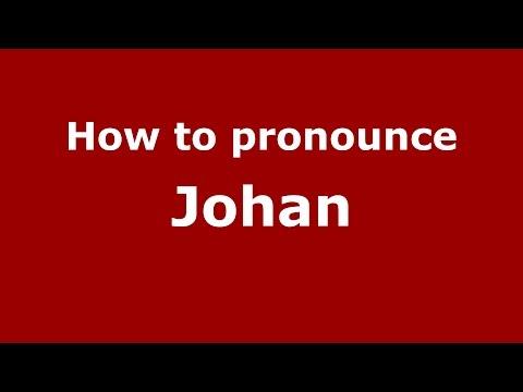 How to pronounce Johan (Colombian Spanish/Colombia)  - PronounceNames.com