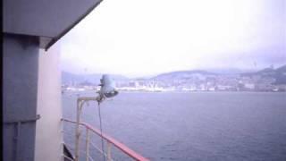 フェリー釜関釜山港到着