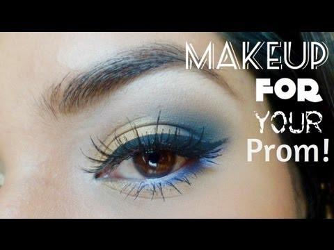 7ee2ea3d4 Maquillaje para tu graduación  Azul y dorado.  Prom makeup  English Sub    Gold   Blue