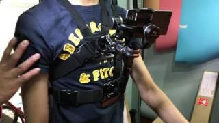 胸前 穿戴 三軸穩定器 支撐架 通用 移動 直播 專用 省力 支架 穩定器 背帶 胸背帶 胸器 手機 GOPRO 單車 機車 I7 20160919 080328