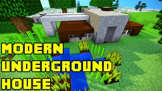 Minecraft: Modern Underground House Tutorial Xbox/PE/PC/PS3/PS4