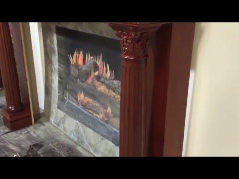 Burlington Mantel in cherry wood with custom stain match