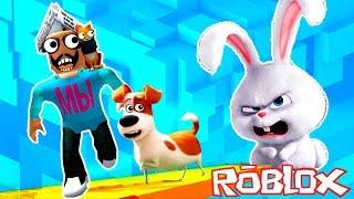 Приключения Макса в Роблокс из мультика Секретная Жизнь Домашних Животных на Мы играем