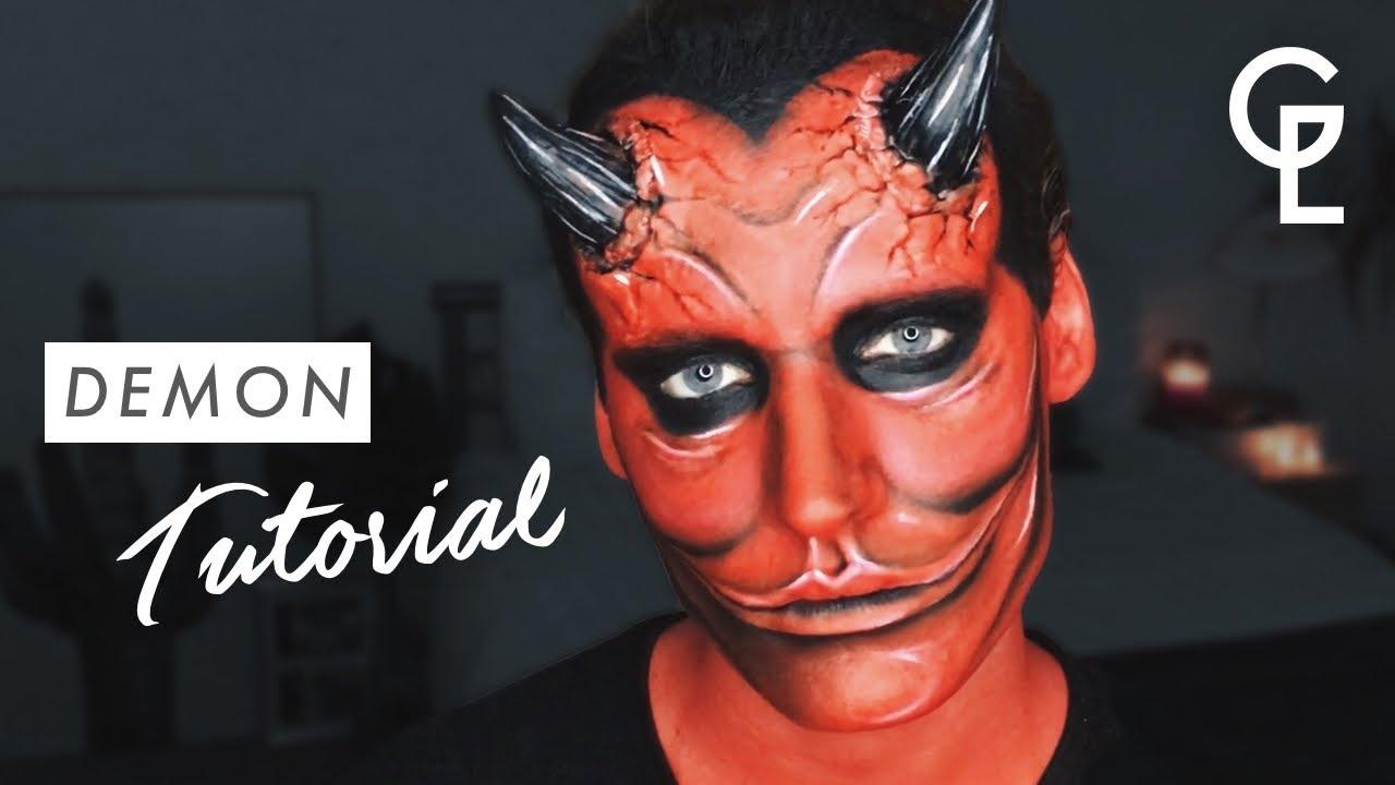 DEMON/DEVIL HALLOWEEN MAKEUP TUTORIAL | Georgeous - YouTube  Demon Halloween Makeup