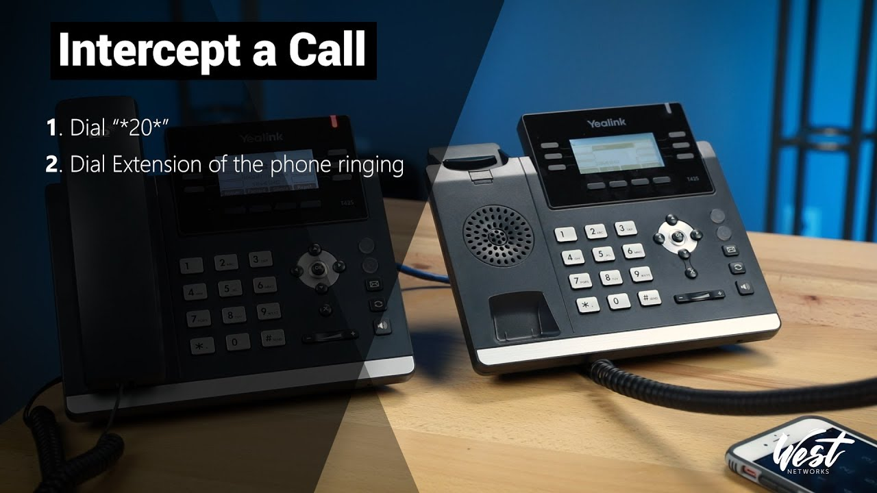 How to Intercept a call with 3CX and Yealink phones