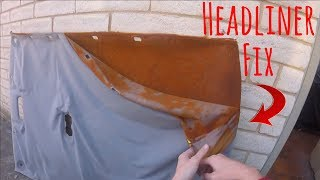 How to fix car's Headliner Professionally | HOW TO REPAIR A SAGGING HEADLINER