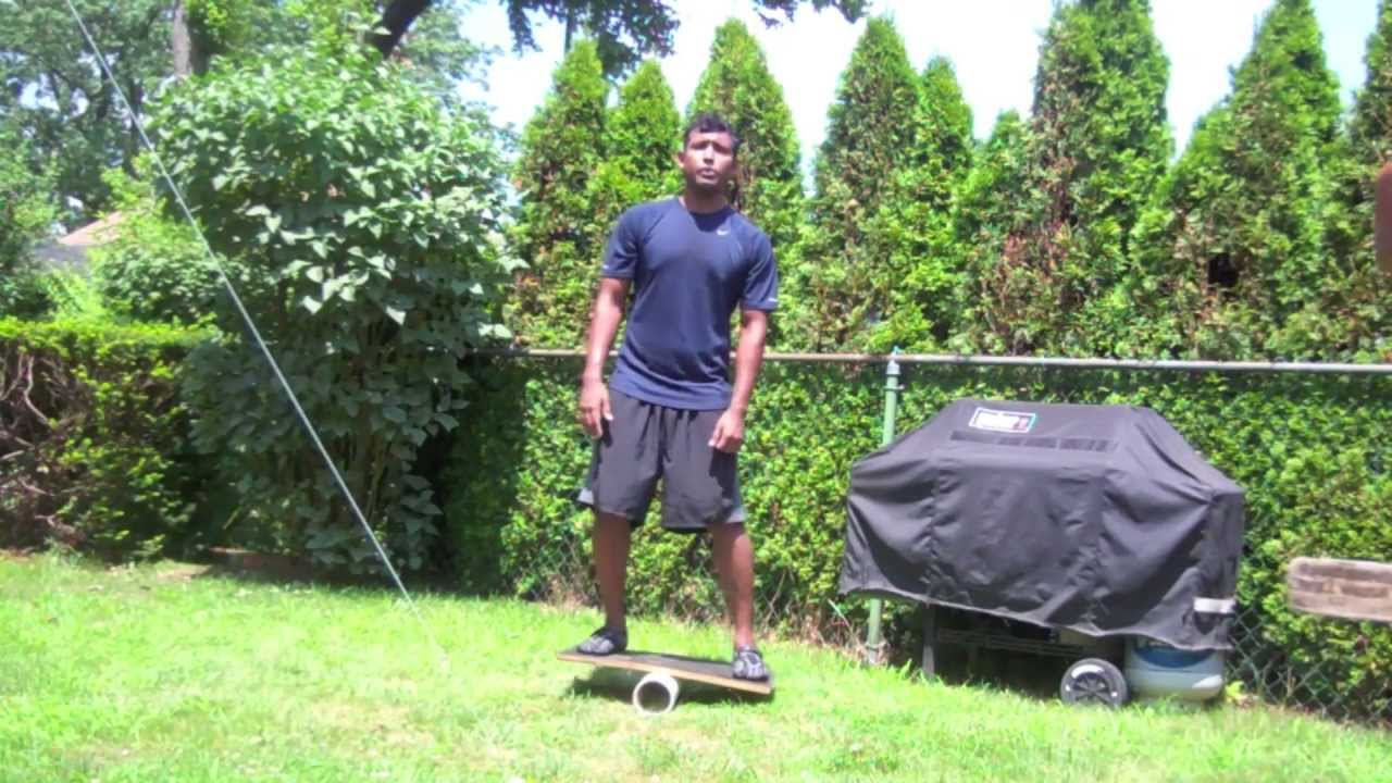 how to make a homemade balance board