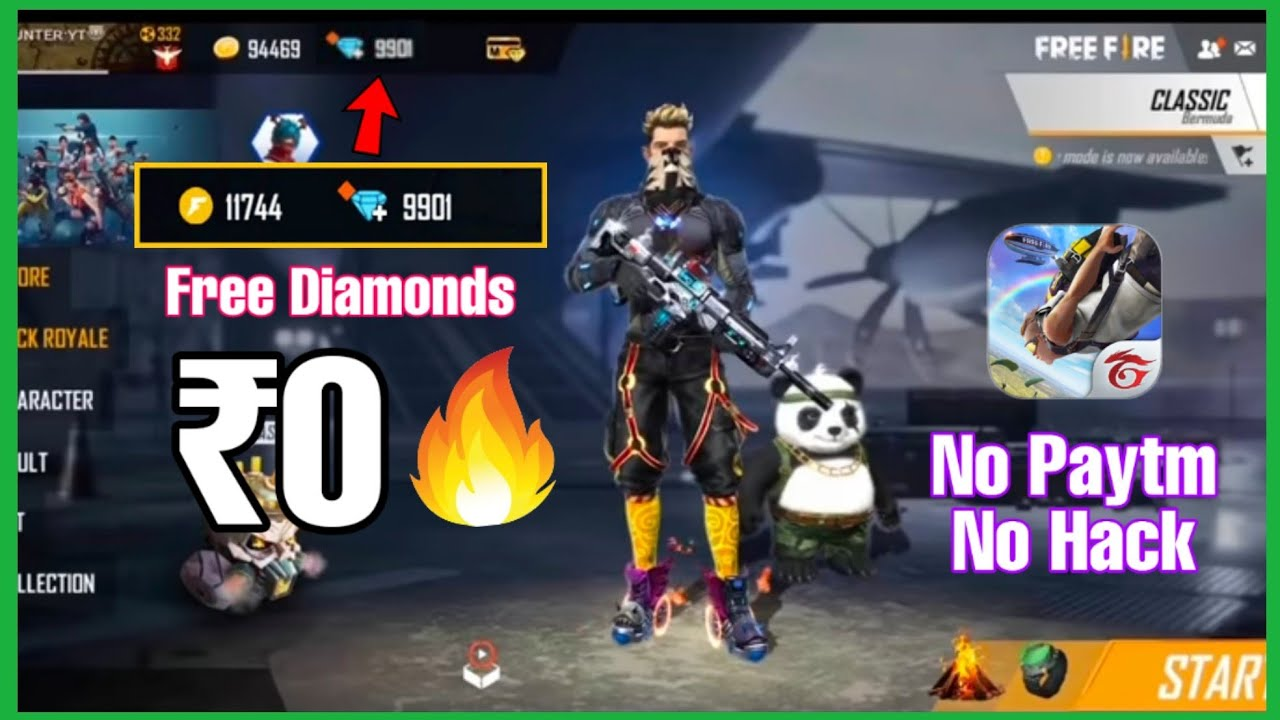 How To Get Free Diamonds In Freefire Without Paytm Or Hack No Survey No Human Verification 2020 Youtube
