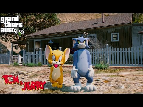 THE ADVENTURES OF TOM AND JERRY #1 (GTA 5 Mods For Kids Funny Moments