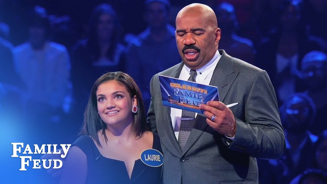 Laurie & Marcus Hernandez go for GOLD! | Celebrity Family Feud