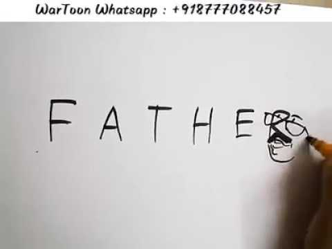 Amazing art by 6 letter word FATHER